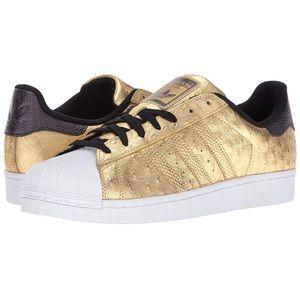 Adidas Originals Superstar Metallic Gold O…